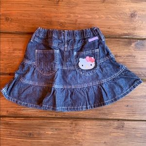 H&M Hello Kitty Denim Skirt